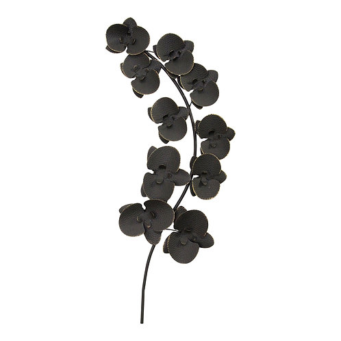 Black Orchid Metal Wall Décor