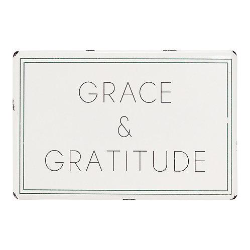 Grace & Gratitude Worn Metal Wall Art