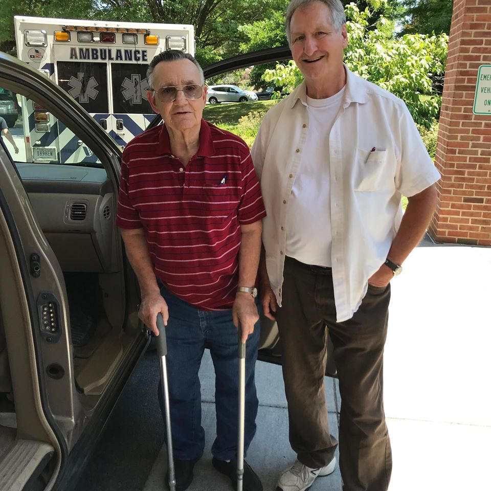 F.R.E.E. client receives cane