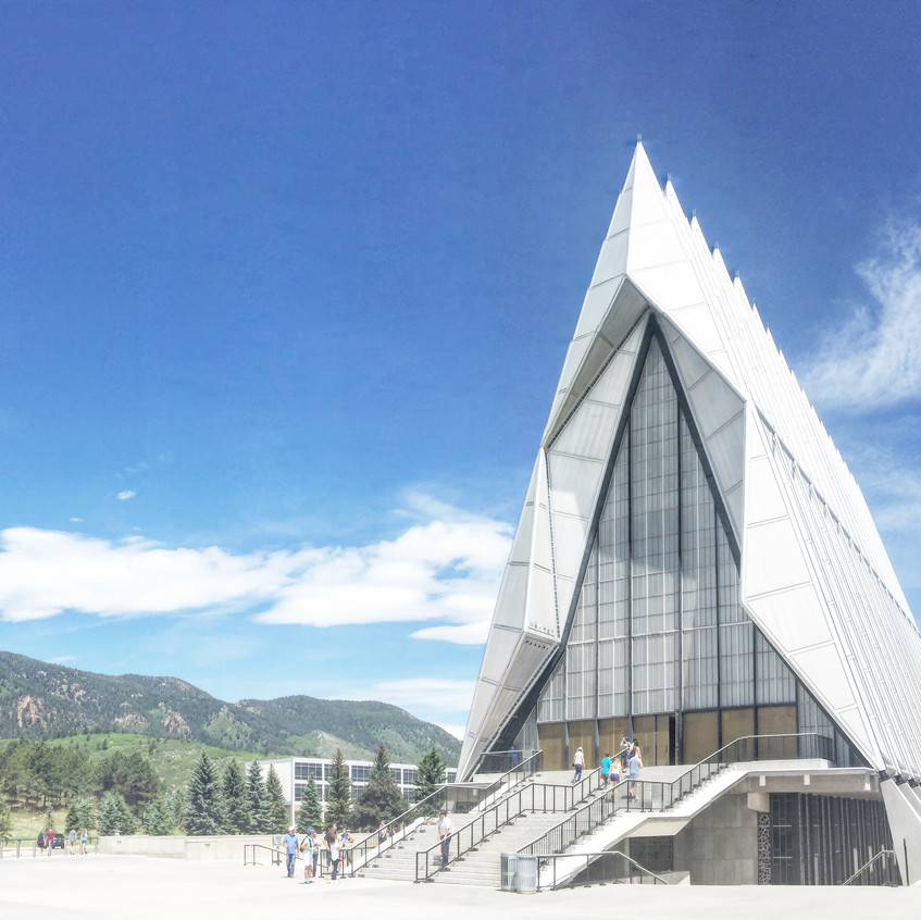 AH. MAZING!!! Chapel @ US Air Force Academy: Completed in 1962, designed by Walter Netsch of Skidmore, Owings and Merrill of Chicago & forever in my heart.