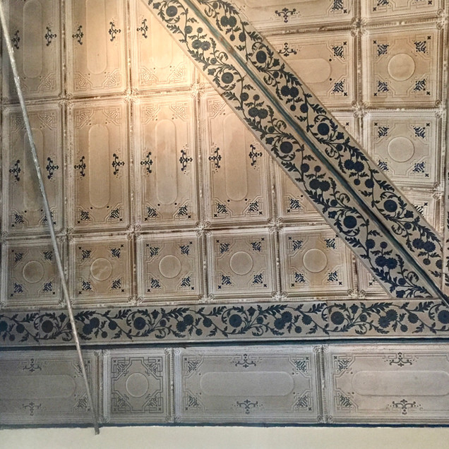 Remnants of RH's old metal ceiling