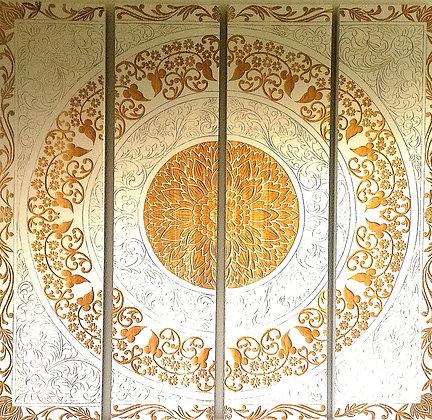 No 1218 - Gravure sur bois  - 150x160cm  -   100 CHF/mois