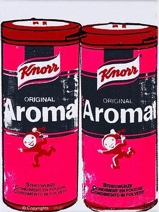 2 AROMAT ROSES   ( 2 pink Aromat )