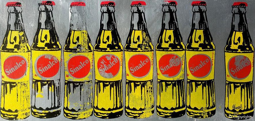 8 BOUTEILLES DE SINALCO   ( 8 bottles of Sinalco )