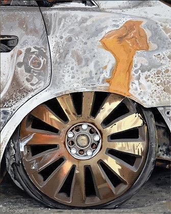 VOITURE BRÛLEE   ( Burned car )