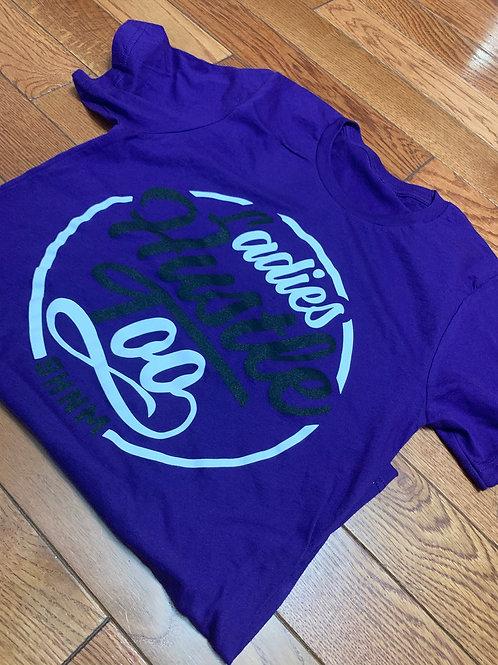 Purple Ladies Hustle Too Summer tee