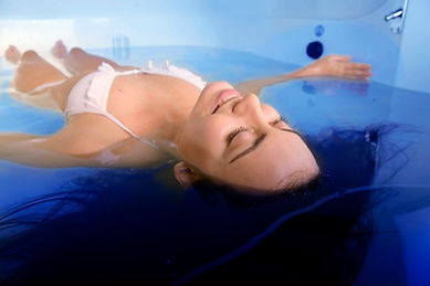 lying in float tank