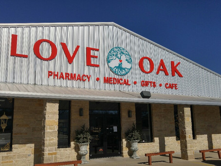 New signs at Love Oak Pharmacy!