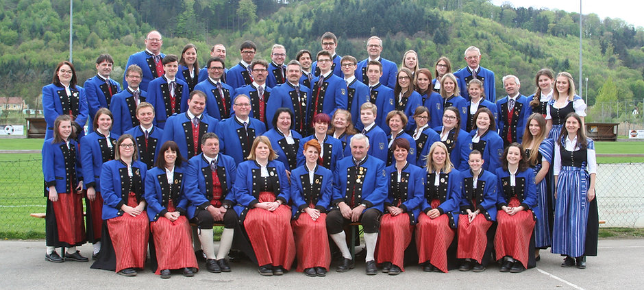 Gruppenfoto der Musikkapelle Paudorf im Hellerhof Park, Paudorf