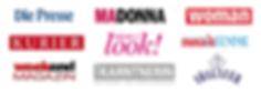 Media, Logo, Veröffentlichungen, Magazine, Madonna, Presse, Kurier, woman, weekend, look,