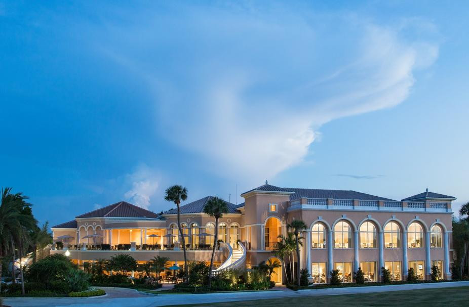 The Country Club at Mirasol recently built a new, $40 million clubhouse and two-story esplanade for spa and fitness activities. Photo Courtesy of The Palm Beach Post