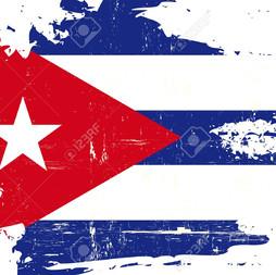 Cuban Flag Painted 0117