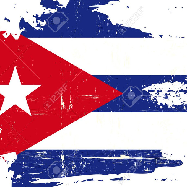 Cuban Flag Painted 0117