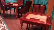 Custom Made Mahogany Domino Tables