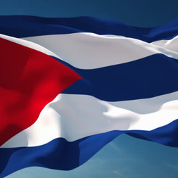 Cuban Flag In the Wind 0115