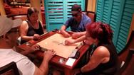 Custom Made Manogany Domino Table