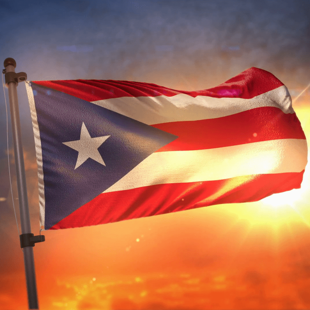 Puerto Rican Flag in Sunlight 005