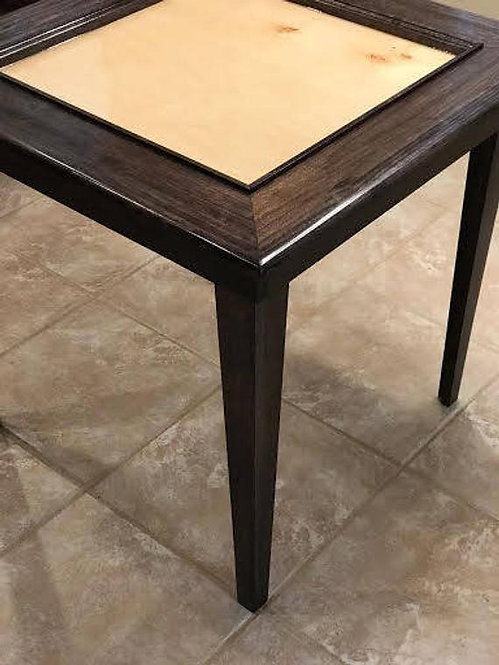 Solid  Wood Poplar Domino Table With Removable Tapered  Legs
