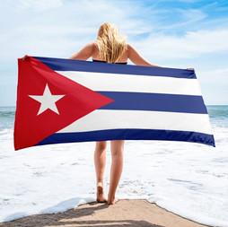 Cuban Flag on the Beach 013