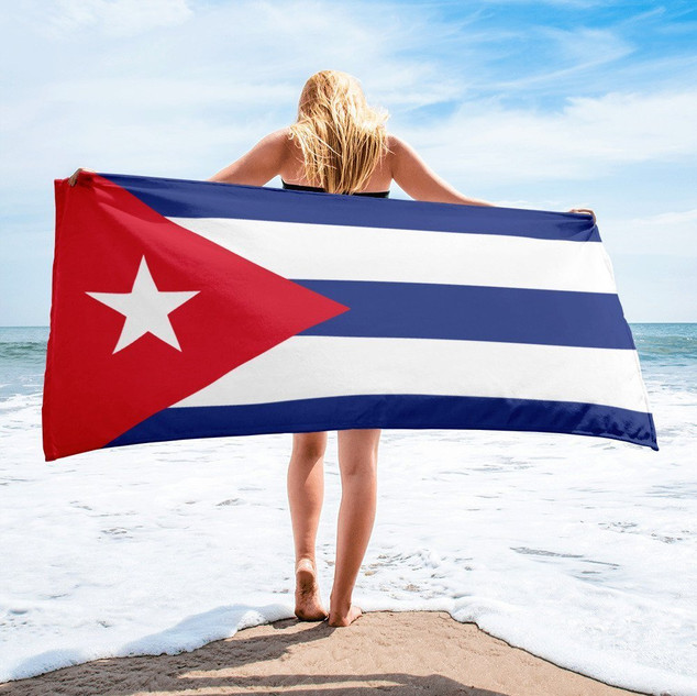 Cuban Flag on the Beach 013