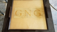 Domino Table with Laser Engraved Initials