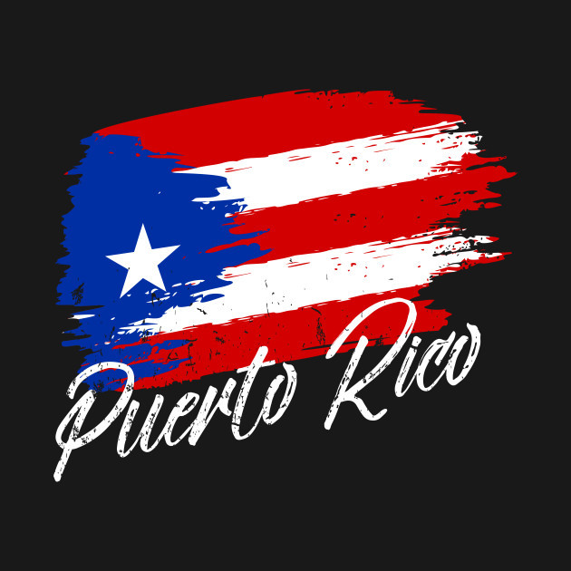 Painted Puerto Rican Flag 007