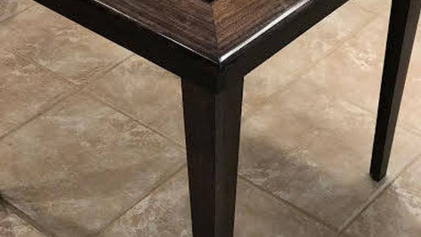 Tapered Leg Domino Table