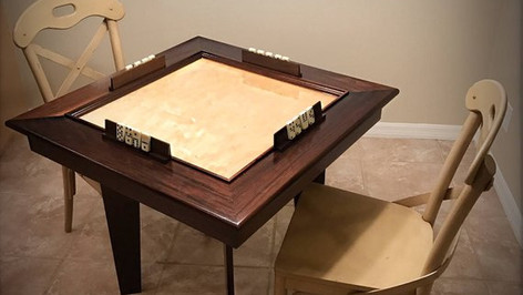 Expresso Stained Domino Table
