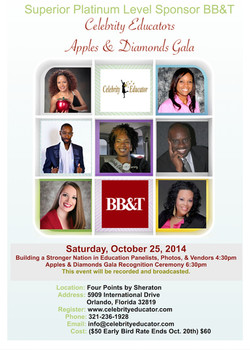 Celebrity Educator Event Flyer