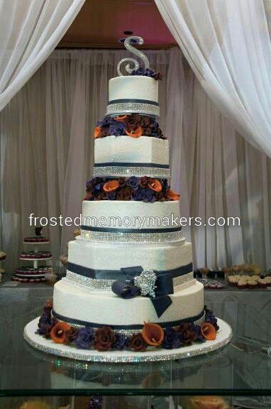 Hexagon Wedding Cake