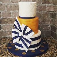 Gold painted birthday cake