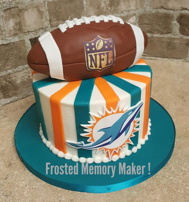 NFL themed birthday cake