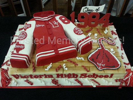 Victoira High School class reunion cake