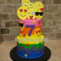 Emoji themed birthday cake