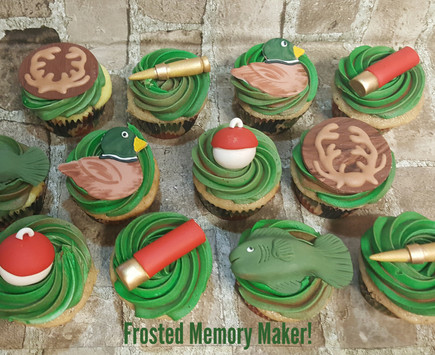 Hunting and Fishing cupcake