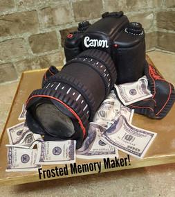 3D Canon Camera cake