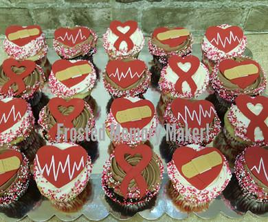 Congenital Heart Disease Awareness cupcakes
