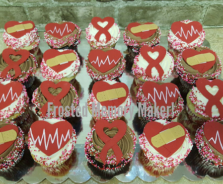 Congenital Heart Disease Awareness cupcakes