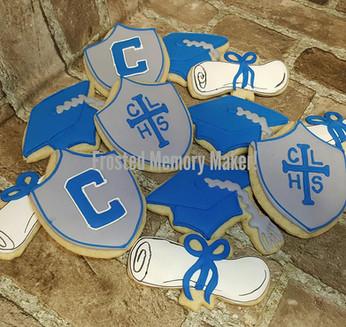 Concordia Lutheran High School Graduation cookies