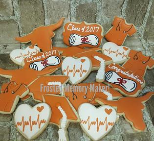 University of Texas Graduation cookies