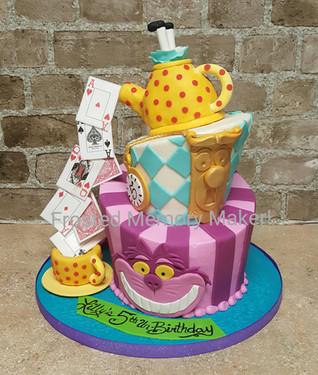Alice in Wonderland themed cake