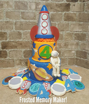 Outer Space themed birthday cake