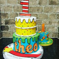 Dr. Seuss themed cake