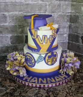 Jersey Village Graduation cake