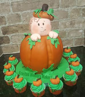 Baby Pumpkin Baby Shower Cake