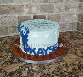 Oh deer themed baby shower cake