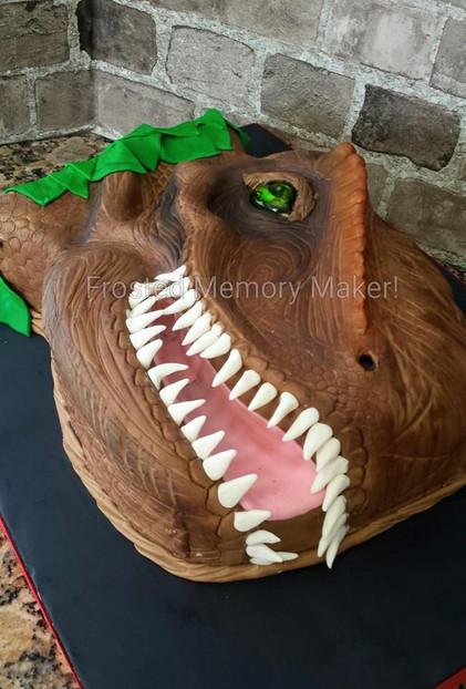Semi 3D T-Rex Cake