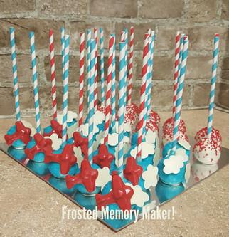 Airplane cakepops