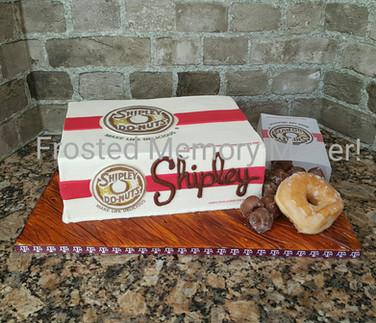 Shipley Donuts themed birthday cake