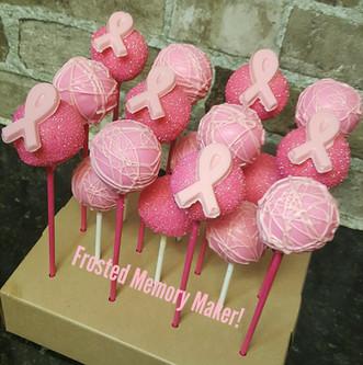 Pink Breast cancer awareness cakepops